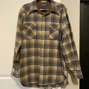 Pendleton Wool Cowboy Shirt - Size L Long